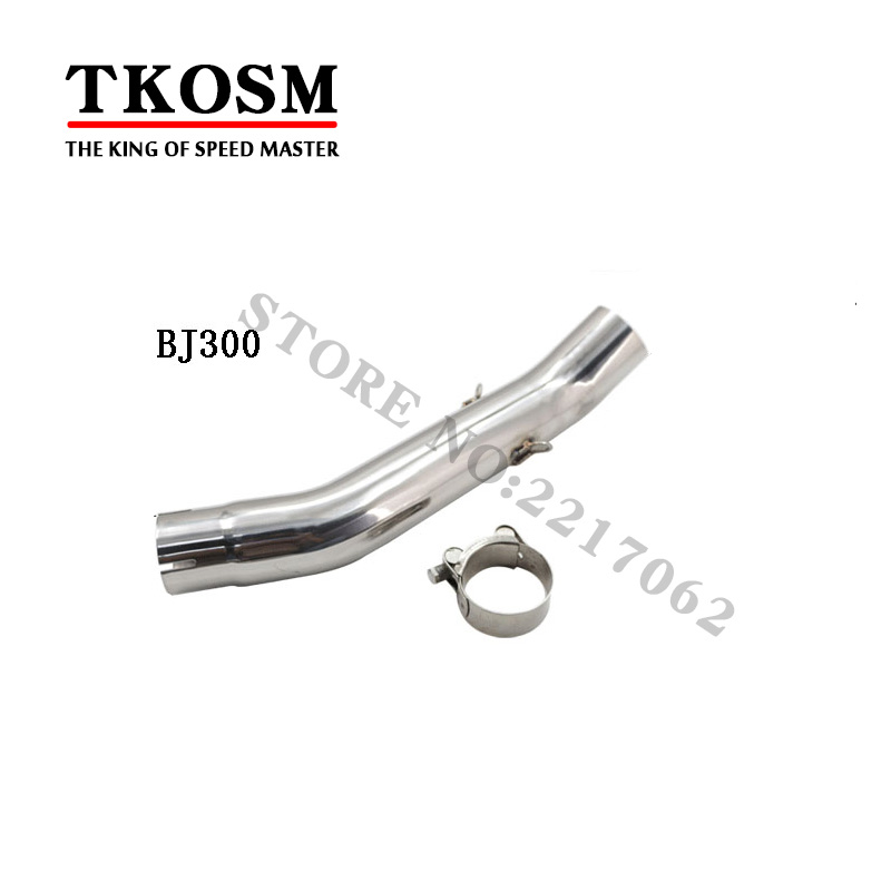 Stainless Steel Outer 45mm Bj300 Bj600 Modified Motorcycle Exhaust Pipe Muffler Escape Connecting Pipe Front Link Pipe Mid Pipe