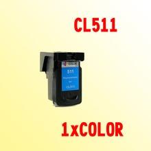 CL511 чернильный картридж совместим для CANON PIXMA CL 511 CL-511 CL511XL MP230 240 250 260 270 280 282 480 490 495 MP499