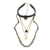 Trinketsea punky de moda de cuero negro caída de collar de la joyería de la cadena para la mujer declaración choker collar acodado party bar joyería