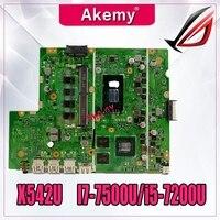 Laptop Motherboard Für For Asus X542U X542UR X542UQ X542UN X542URR Mainboard I7-7500U i5-7200U (V2G) austausch!!!