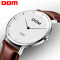 Men Watches DOM Leather Quartz Fashion Casual Wristwatches Megir Watch Man Luxury Business Clock Male Relogio
