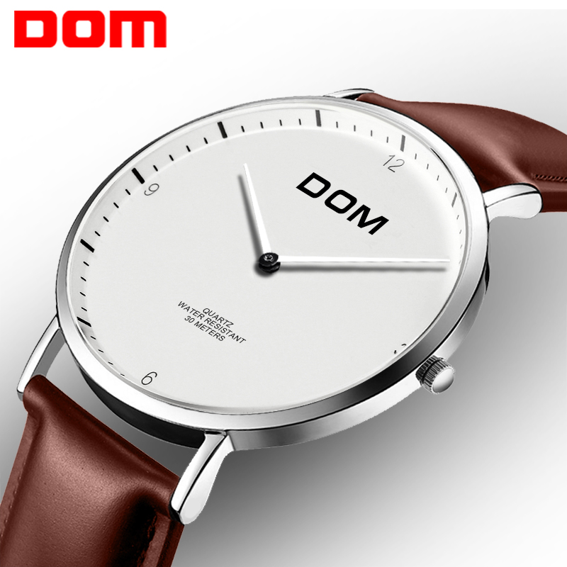 Men Watches DOM Leather Quartz Fashion Casual Wristwatches Megir Watch Man Luxury Business Clock Male Relogio Masculino 2M-36S