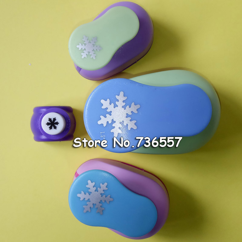 4pcs Snowflake Crafts and Scrapbooking Tool Paper Punch For Photo Gallery decoration DIY Gift Card Punches Embossing device plastic embossing foldet flower diy scrapbooking photo album card paper craft decoration template