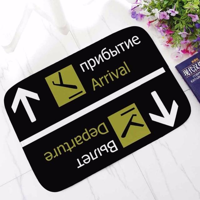 CAMMITEVER Black Russian Tapetes Arrival Departure Outdoor Entrance Rugs for Home Living Room Carpet Floor Door Bath Mat