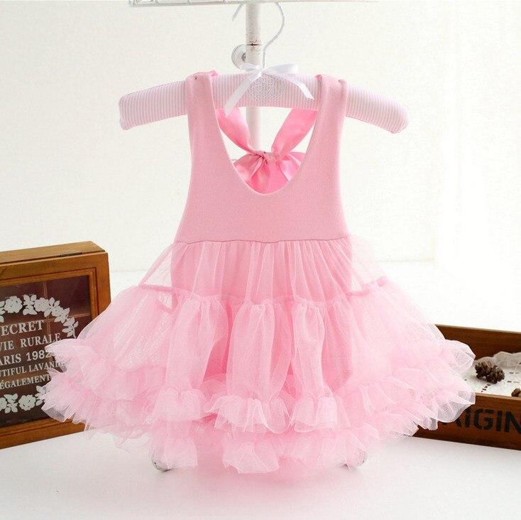 Infant Baby Girl Clothes Newborn Princess Tutu Bodysuit Playsuit Dress 0-12M