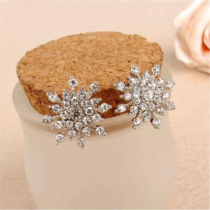 Wedding Jewelry Design Crystal Rhinestone Stud Earrings Luxury gift to women