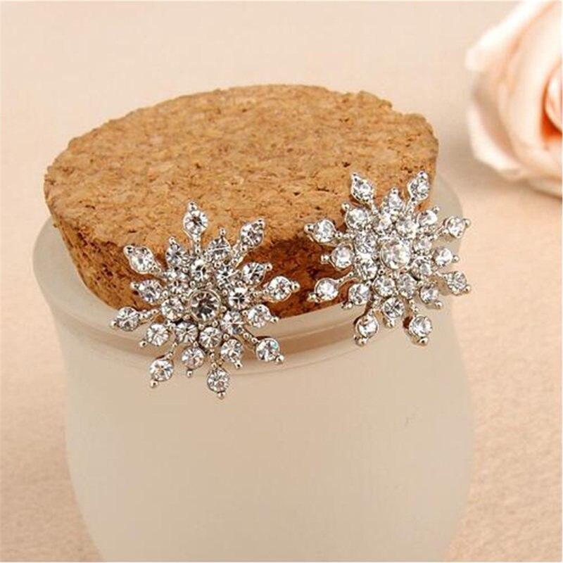 Свадебный ювелирный дизайн из горного хрусталя серьги гвоздики роскошный подарок для женщин
