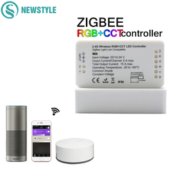 ZIGBEE LED Controller Echo Hue Lightify Tradfri Compatible Smart LED Controller WW/CW RGB CCT LED Strip Controller APP Control