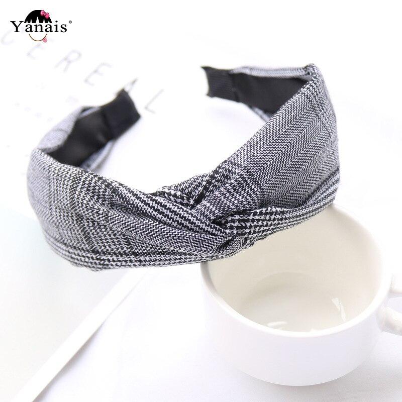 Soft Knotted Headband Hairband For Women Lady Bow Hair Hoop Vintage Hair Band Turban Bezel Hair Accessories Headwear