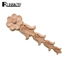 RUNBAZEF Solid Wood Applique Woodcarving European-style Carv