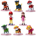 New Toys 8 Pcs/Set dogs Patrolled Puppy Dog Toy Childrens Anime Action Figure Toy Mini Figures Patrolled Dog Model Toys WJ437