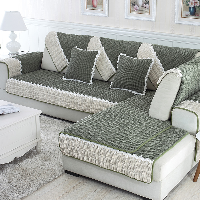 1 Piece Per Set Sofa Covers Fleeced Fabric Knit Eco