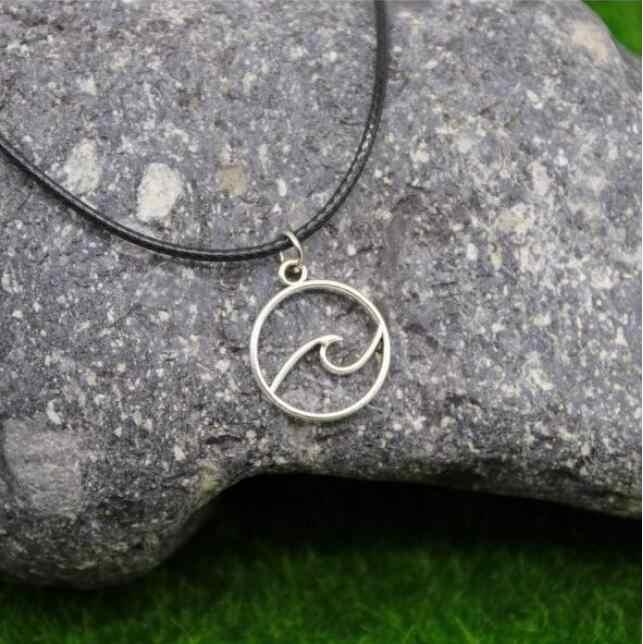 512 X onda colar de corda de couro Preto liso simples feminino clavícula cadeia pescoço cinto de jóias cadeia feminina jóias accessori