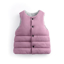 Candy-Colors Boys Clothes Down Vests Waistcoat Children's Waistcoats Kids Sleeveless Jacket Outerwear Children Down Jacket
