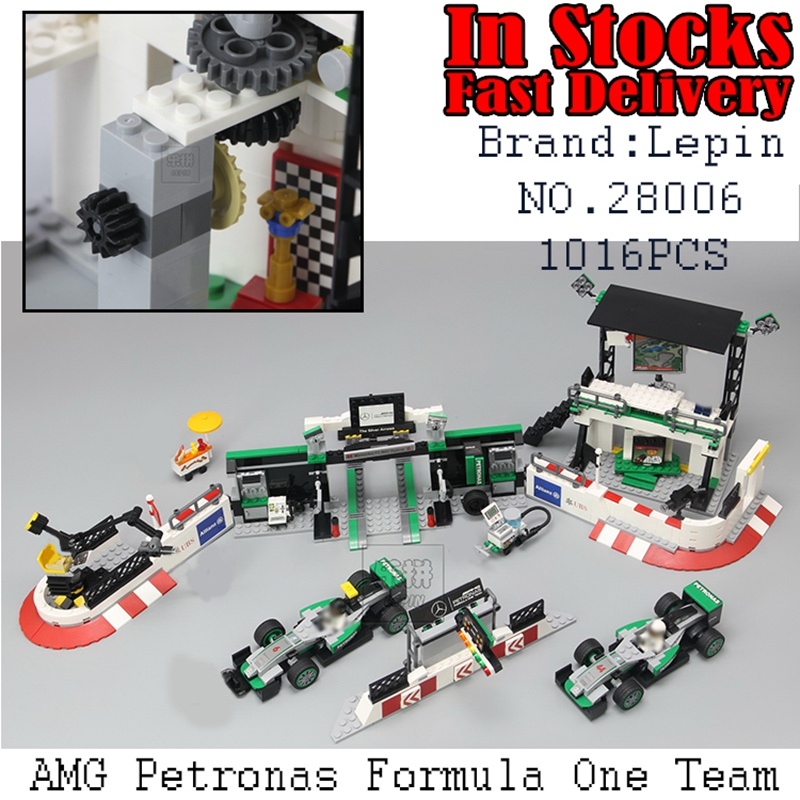 Lepin 28006 Genuine Super Racer The AMG PETRONAS Formula Team Set Children Educational Building Blocks Bricks Toys Gifts 75883 building blocks super heroes back to the future doc brown and marty mcfly with skateboard wolverine toys for children gift kf197