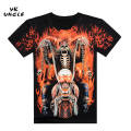 New Wolf Eagle Printed India 3D T shirt Men Tee Shirt Skull Rock and Roll Man t-shirt Leisure Style Short Sleeve S-XXXL,YK UNCLE