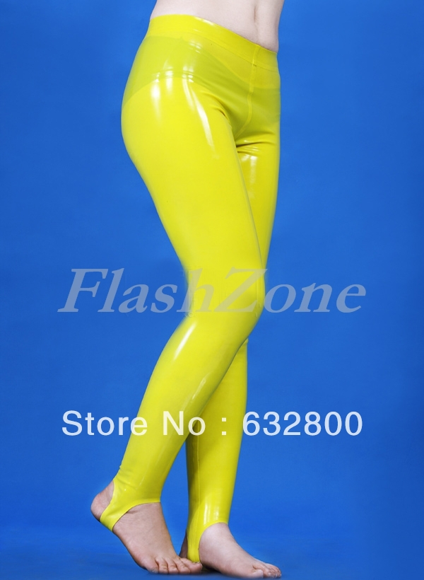 Gelbe gummihose