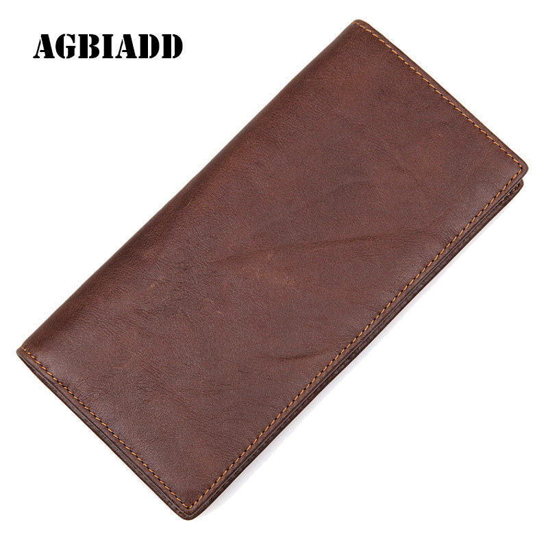 Genuine Leather Men Wallets Fashion Male Long Wallet Man'S Clutch Bags Portable Cash Purses Casual Wallets Male Clutch Bag 267 2016 famous brand new men business brown black clutch wallets bags male real leather high capacity long wallet purses handy bags
