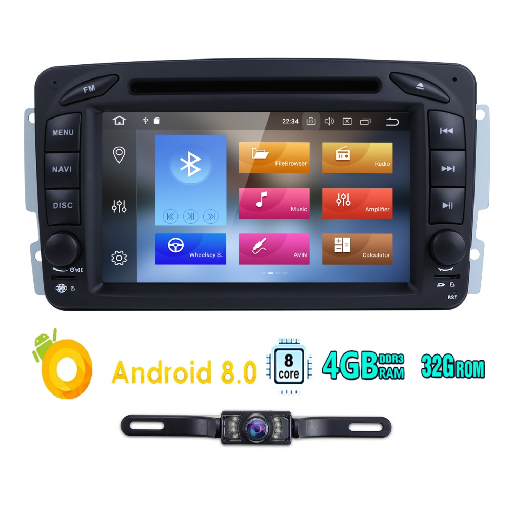 Octa Core 2din 7 Android 8 0 Car DVD Player Radio For Mercedes Benz W209 W203