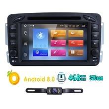 Восьмиядерный 2din 7 «Android 8,0 автомобильный DVD плеер радио для Mercedes Benz W209 W203 W168 W463 vianovito Vaneo gps стерео BT