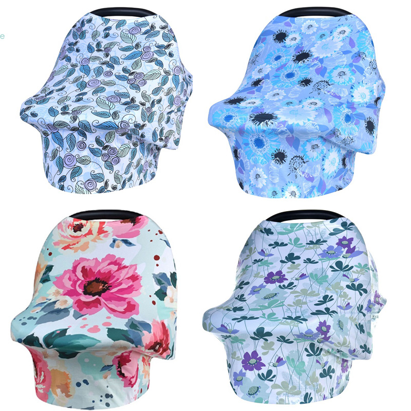 EGMAOBABY HOT Baby Car Seat Cover Nursing Cover Car Seat Canopy Covers Multi-Use Infant Shopping Cart High Chair Stroller Shawl baby car seat cover canopy nursing cover multi use stretchy infinity scarf breastfeeding shopping cart cover high chair cover