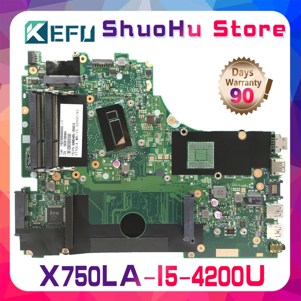 KEFU For <font><b>ASUS</b></font> <font><b>X750LB</b></font> X750LA X750L X750LN I5-4200U laptop motherboard tested 100% work original mainboard image