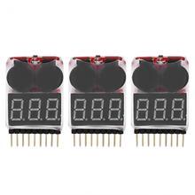 3Pcs set RC 1S 8S Lipo font b Battery b font LED Indicator Tester Low Voltage