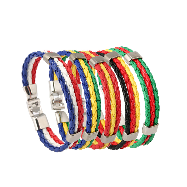 bc3a3e1a6bd0c9 Unisex Rope Bracelet PU Imitation Leather Hand-Woven Bracelets Men's Women Leather  Bracelet