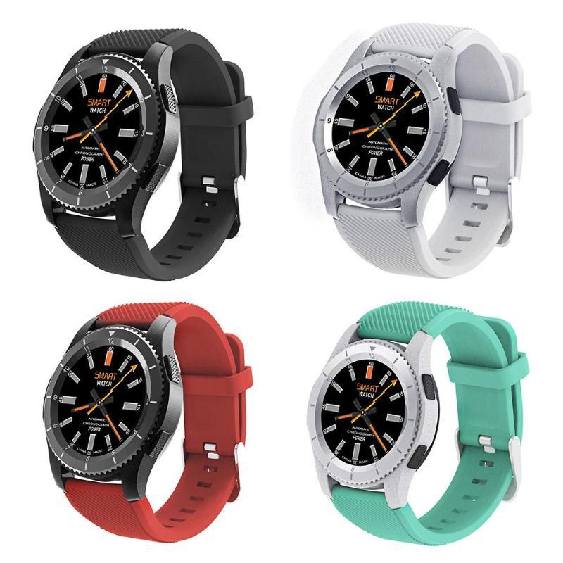 Alloyseed caméra à distance montre intelligente G8 Bluetooth Smartwatch moniteur cardiaque Tracker pour Android iOS MTK2502 hommes montre