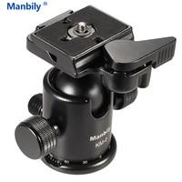 Manbily Professional Camera Ball Head Ballhead Tripod Head Panoramic Head Sliding Rail Head w Manfrotto 200PL 14 Clamp&Plate KM0