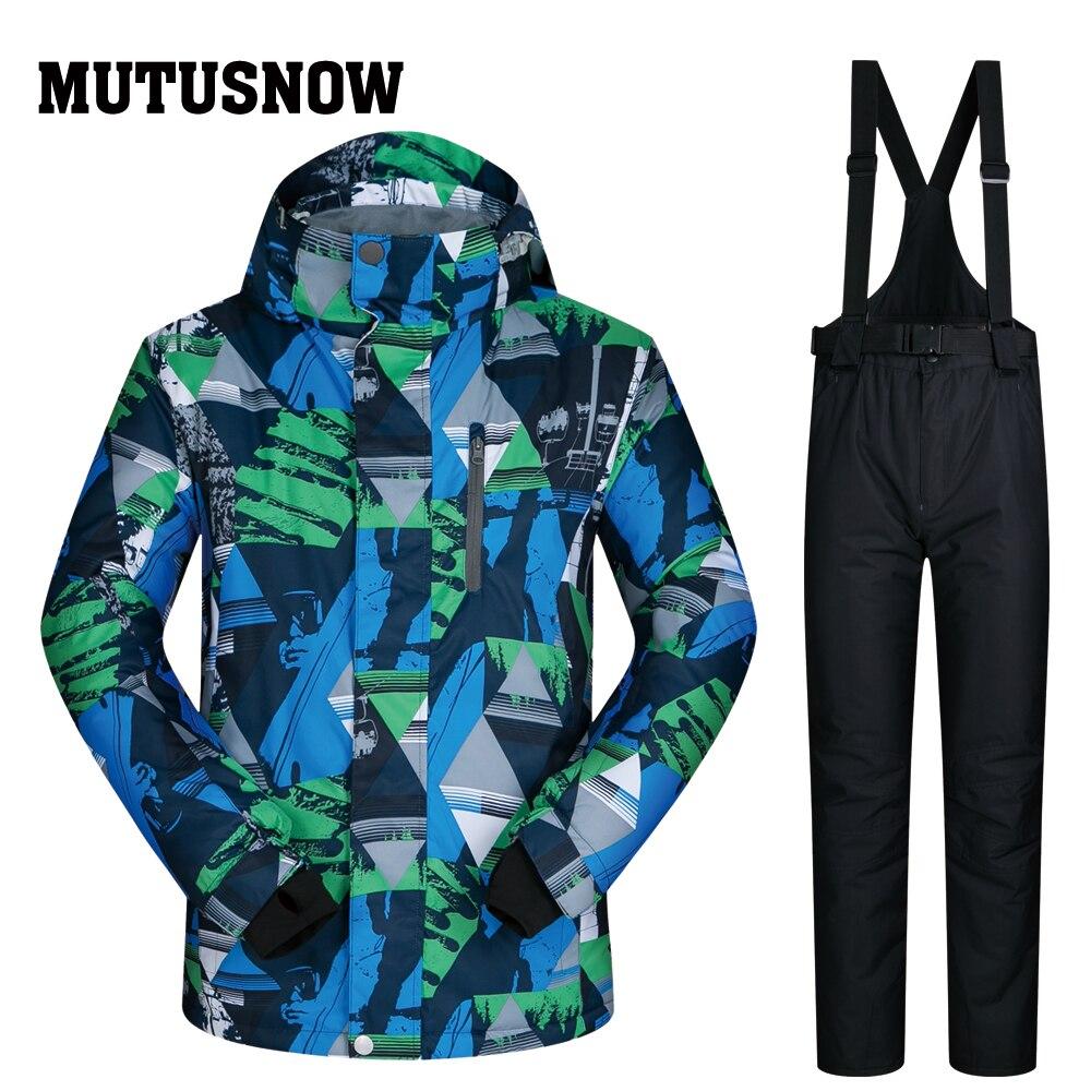 Nouveau costume de Ski hommes marques coupe-vent imperméable épaissir vêtements et pantalons manteau et pantalon porter hommes Ski hiver Snowboard vestes