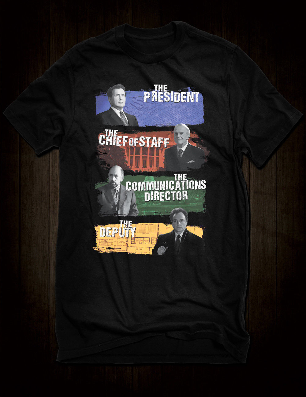 Black West Wing T Shirt Tv Show Character Tee