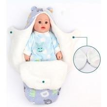 Утолщенный спальный мешок, 1 шт., детское теплое Пеленальное Одеяло для новорожденных 0 8 месяцев, Двухслойное Флисовое одеяло для сна, детское постельное белье