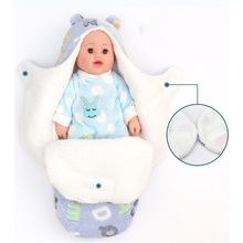 Saco de dormir grueso para bebé, manta cálida para recién nacido de 0 a 8 meses, forro polar Coral de doble capa, ropa de cama para bebé, 1 ud.