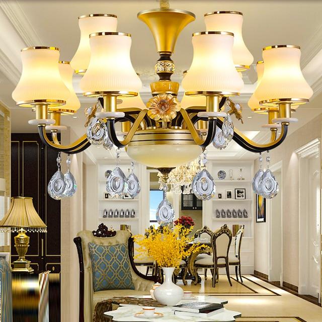 Living Room Crystal Flush Mount Chandelier Crystal Chandelier Simple Dining  Room Lamp Bedroom Glass Chandelier Modern
