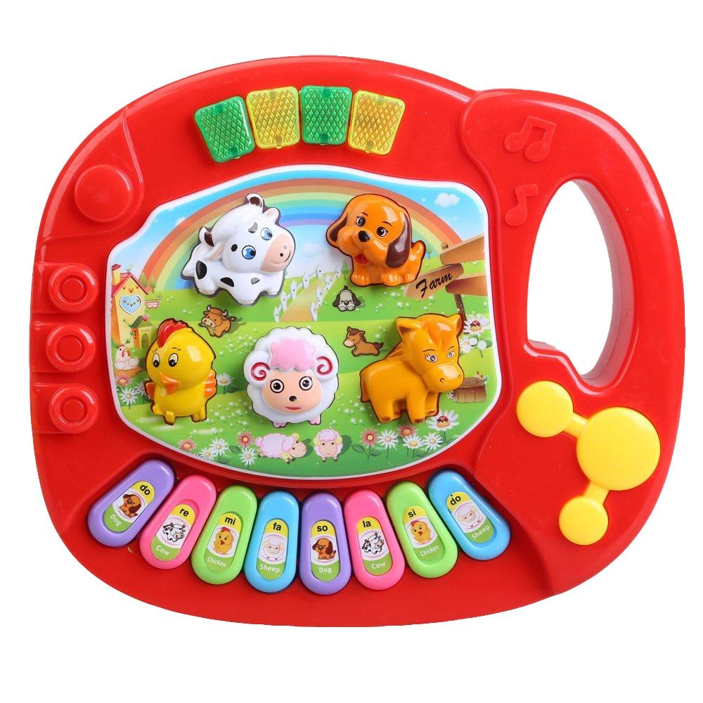 HOT Baby Kids Musical Educational Animal Farm Piano Developmental Music Toy
