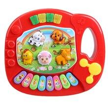 Piano de fazenda animal educacional, brinquedo de música para desenvolvimento infantil