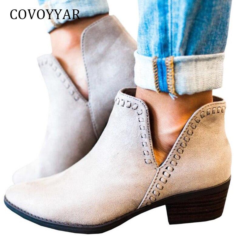 c62a09a202c Comprar Botas De Tobillo Vintage COVOYYAR 2018 Nueva Forma V Punta ...
