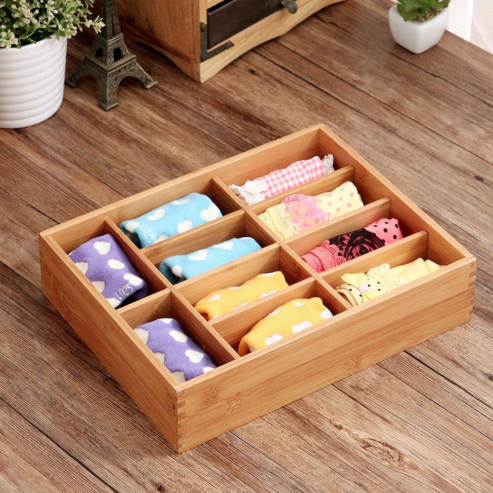 Bambou boîte de rangement maison bureau finition boîte créative armoire tiroir compartiment boîte de rangement lingerie wx10291554