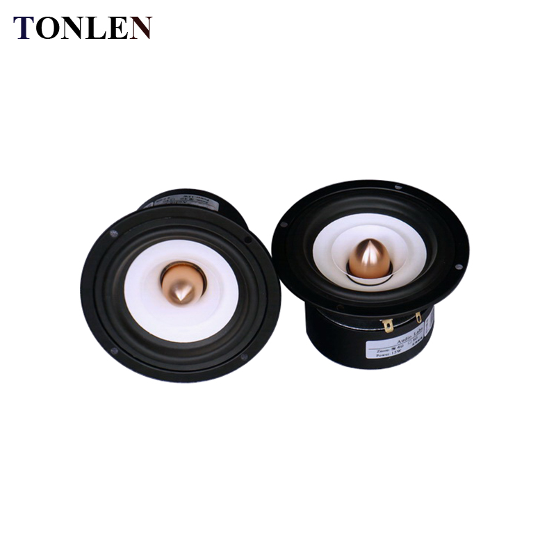 TONLEN 2PCS 4 inch Full Range Speaker 4 ohm 8 ohm 15 W HIFI Loudspeaker Portable Audio Speaker Horn Home Theater Sound Box 4pcs diaphragm horn for behringer b215xl 44t30h8 44t3018 44t30d8 8 ohm