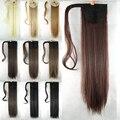 10 цветов 60 см длинные волосы парик хвост клип на хвост Extansion пони-хвост шиньоны синтетический прямые волосы природного