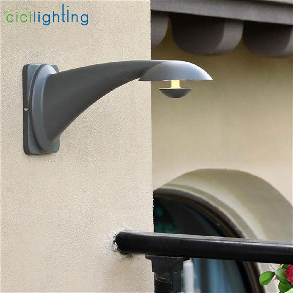 Luxury outdoor wall lamp grey swan led exterior wall lighting for coffee bar store creative art decorative waterproof lighting