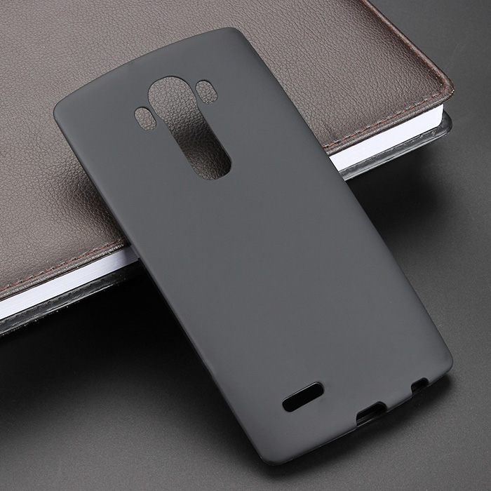 Black Gel TPU Slim Soft Anti Skiding Case Back Cover For LG G4 H815 G2 G3 G5 Mobile Phone Rubber silicone Bag image