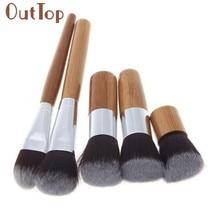 6 stuks Bamboe Professionele Oogschaduw Make-Up Cosmetische Tool Kabuki Eye Brush Set Levert Dropship 30p1225