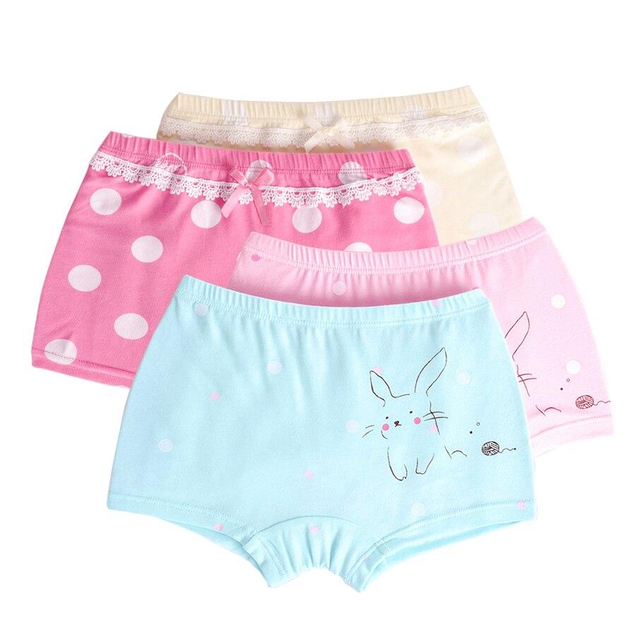 83b82882caa8 2 unids/lote lindo dibujos animados niños niñas bragas ropa interior para  Niñas para bebé Calzoncillos Bóxer adolescentes pantalones Boxer