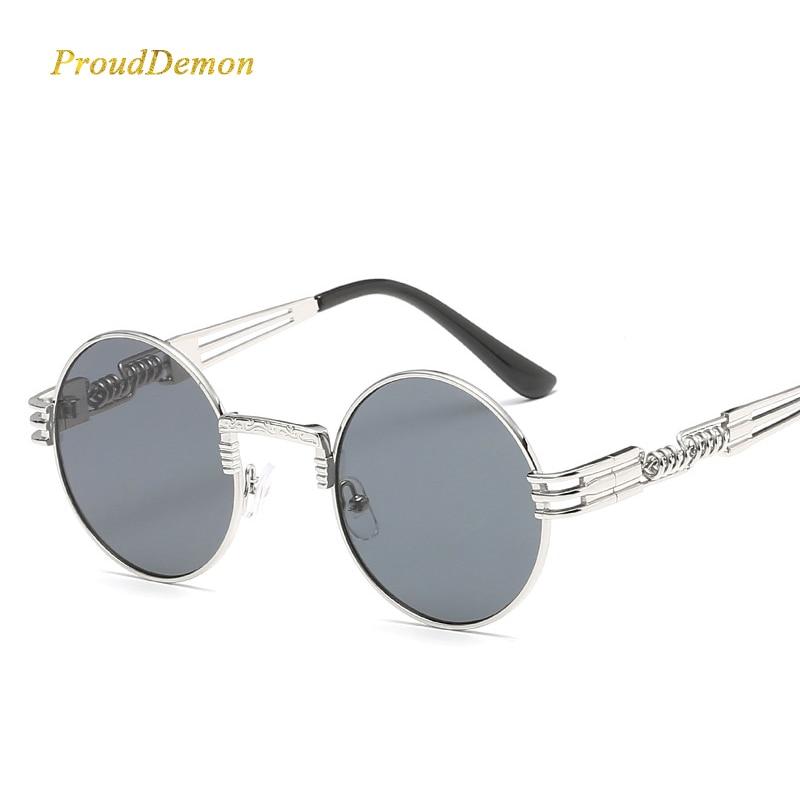 Gothic Steampunk Sunglasses Wanita Pria Logam Bungkus Kacamata - Aksesori pakaian - Foto 2