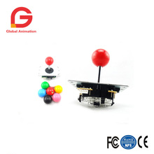 2 PCS Copy Sanwa Joystick With Micro Switch For Game Machine High Quality Multi Color Red Pink Yellow Green Blue White Black