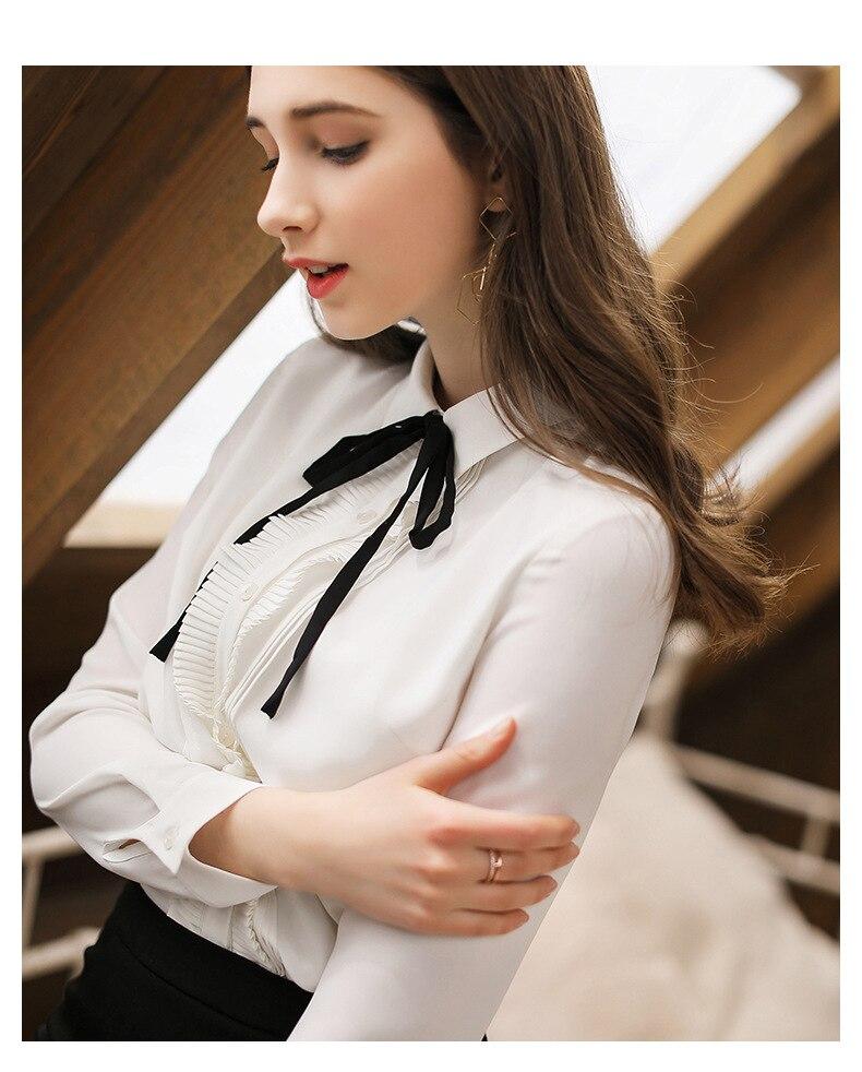 Women's Clothing Nice Finewords Spring 2019 Women White Shirt Long Sleeve Work Shirts Korean Women Streetwear Slim Chiffon Blouse Elegant Ladies Tops