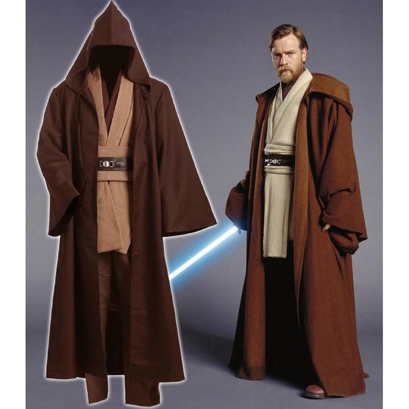 online shop star wars whole set obi wan kenobi jedi tunic force awakens adult uniform cloak coat halloween cosplay costumes for adult kids aliexpress
