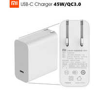 Original Xiaomi Mi USB-C Charger 45W Max Smart Output Type-C Port USB PD 2.0 Quick Charge QC 3.0 Gift Cable(China (Mainland))